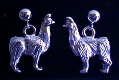 Standing Llama Earrings